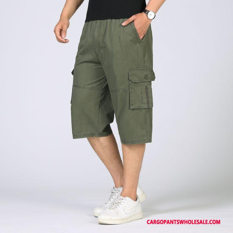 Capri Pants Men Solid Color Fashion Europe Plus Size Casual Pants
