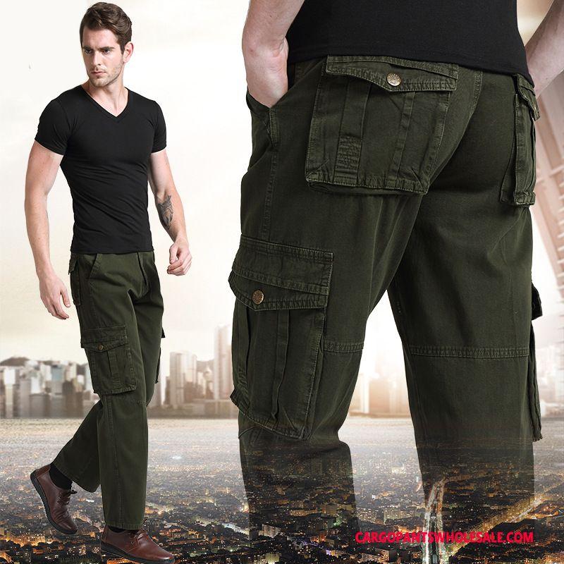 Pantalones Cargo Masculino Ejercito Verde Pantalones Pantalones Casuales Hombre Militar Rectos Nuevo Comprar