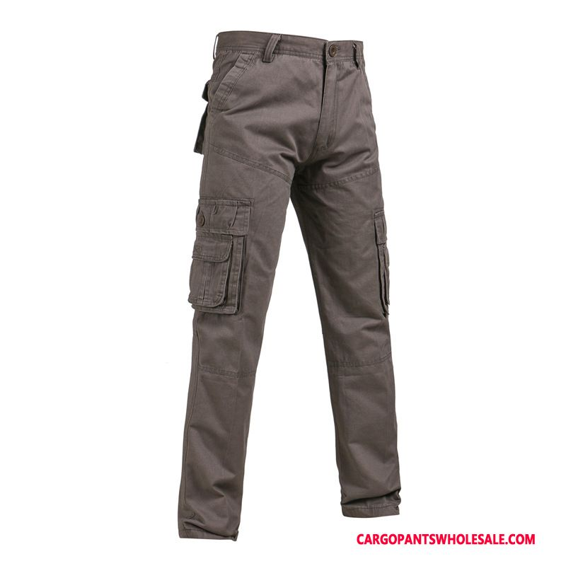 Cargo Pants Male Army Green Deep Gray Motion Pants Outdoor Straight Leisure