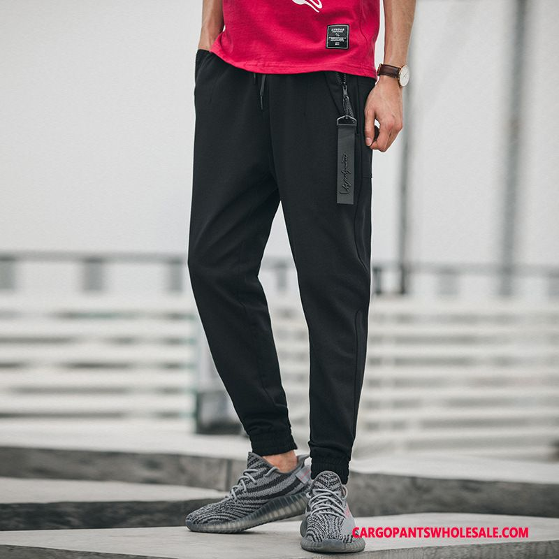 Cargo Pants Male Black Green Casual Pants Loose Trend Thin Section Cargo