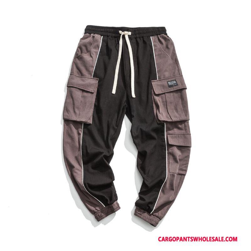 Pantalones Cargo Masculino Negro Marca Sueltos Hombre Pantalones Casuales Pantalones Tendencia Venta