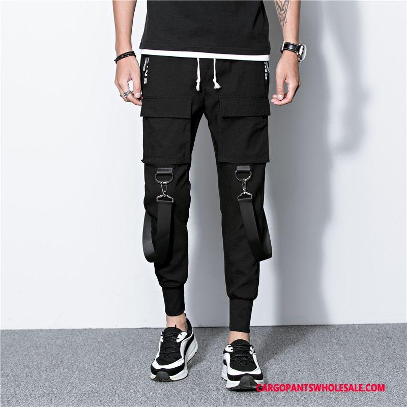 Cargo Pants Male Black The New Cargo Men Motion Autumn Trousers