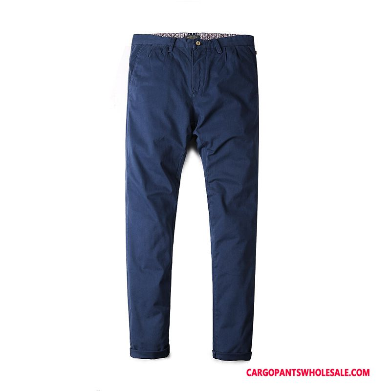 Cargo Pants Male Blue Trend Casual Pants Men Loose Autumn Washed