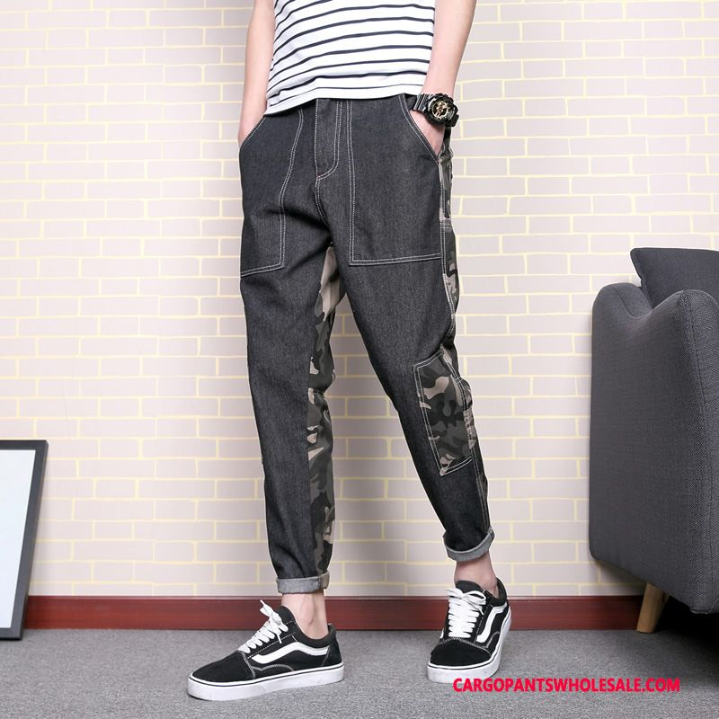 Cargo Pants Male Camouflage Green Green Small Student The New Cotton Splice