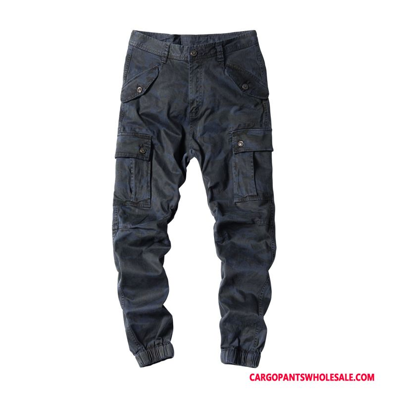 Cargo Pants Male Camouflage Green Loose Pants Men Large Size Autumn Trousers