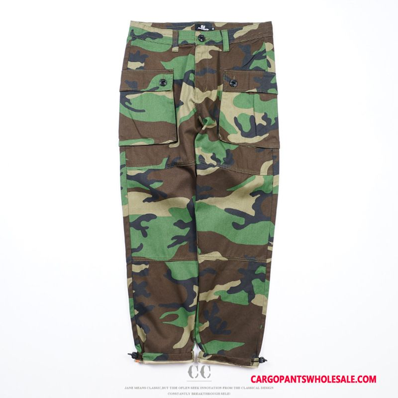 Cargo Pants Male Camouflage Japanese-style Tide Brand Summer The New Cargo Pants