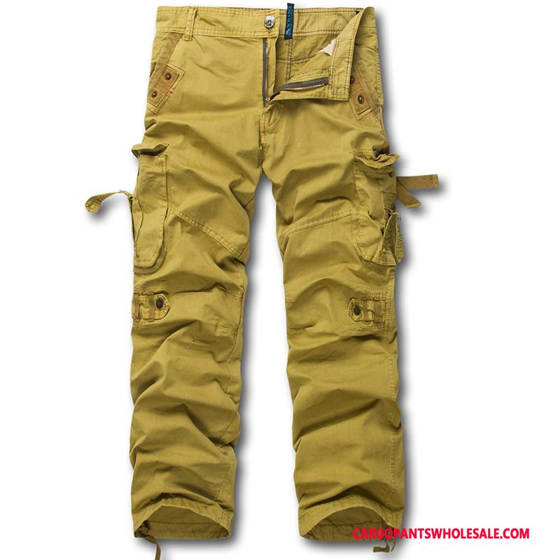 Cargo Pants Male Camouflage Khaki Trousers Leisure Cargo Pants Outdoor Motion