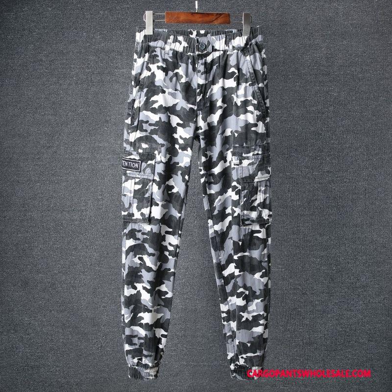 Cargo Pants Male Camouflage Yellow Pants Sweatpants Men Long Slim Fit Leisure