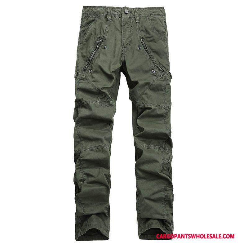 Cargo Pants Male Green Large Size Multi-pocket Zipper Fashion Trousers