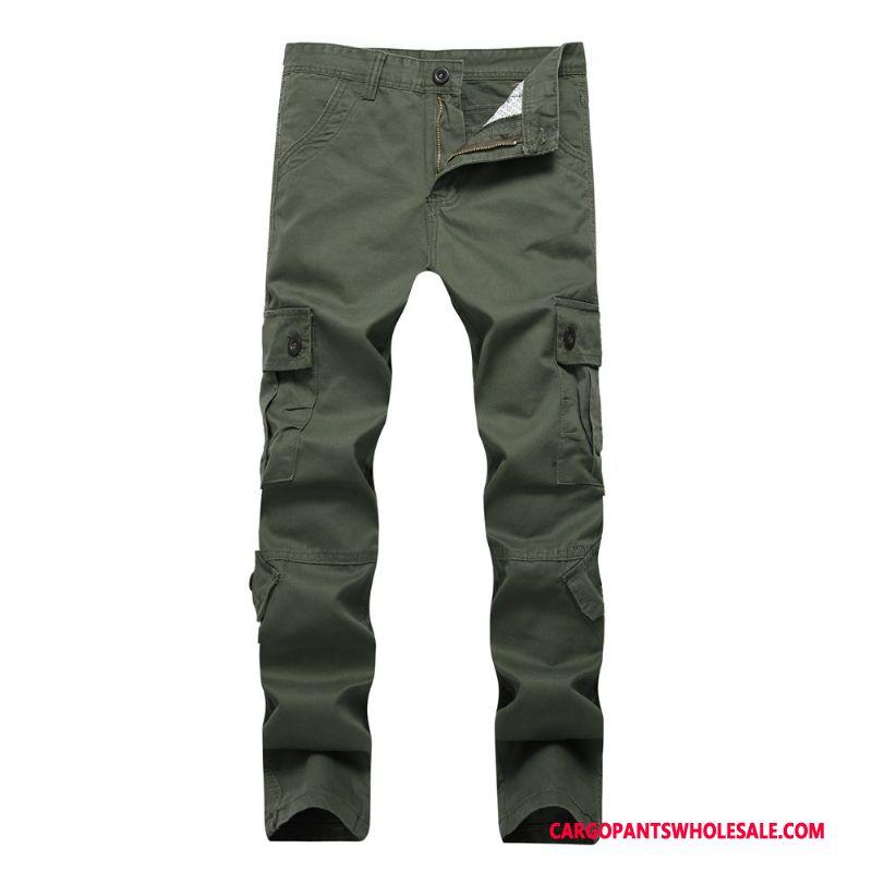 Cargo Pants Male Green Large Size Trousers Men Leisure Cargo Pants Decoration