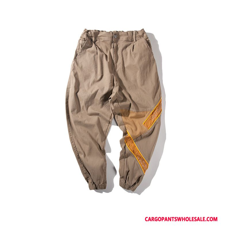 Cargo Pants Male Khaki Casual Pants Summer Men Men Trousers Small