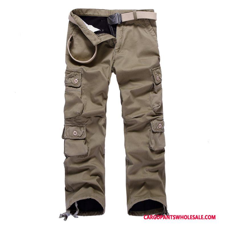 Cargo Pants Male Khaki Deep Large Size Pants Men Loose Winter Autumn