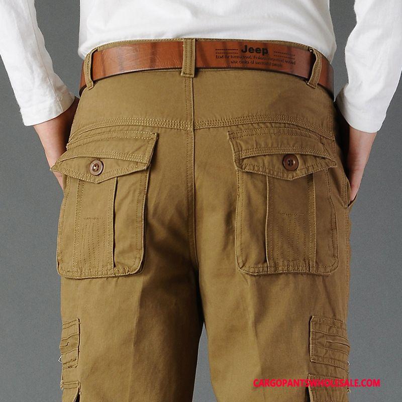 Cargo Pants Male Khaki Pants All Match Men Trousers Straight High Waist