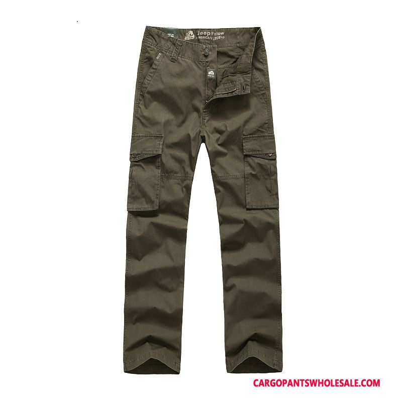 Cargo Pants Male Trousers Multi-pocket Men Spring Casual Pants Washed