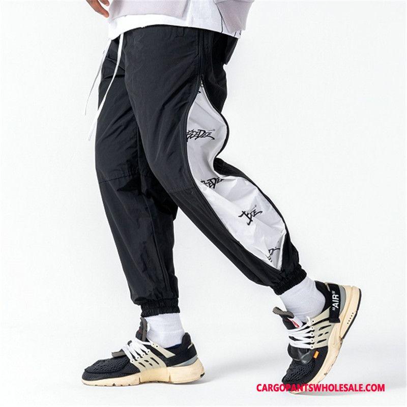 Cargo Pants Men Black The New Casual Pants Zipper Printing Autumn
