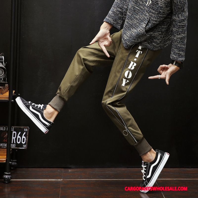 Cargo Pants Men Green Pants All Match Leisure Loose Trend