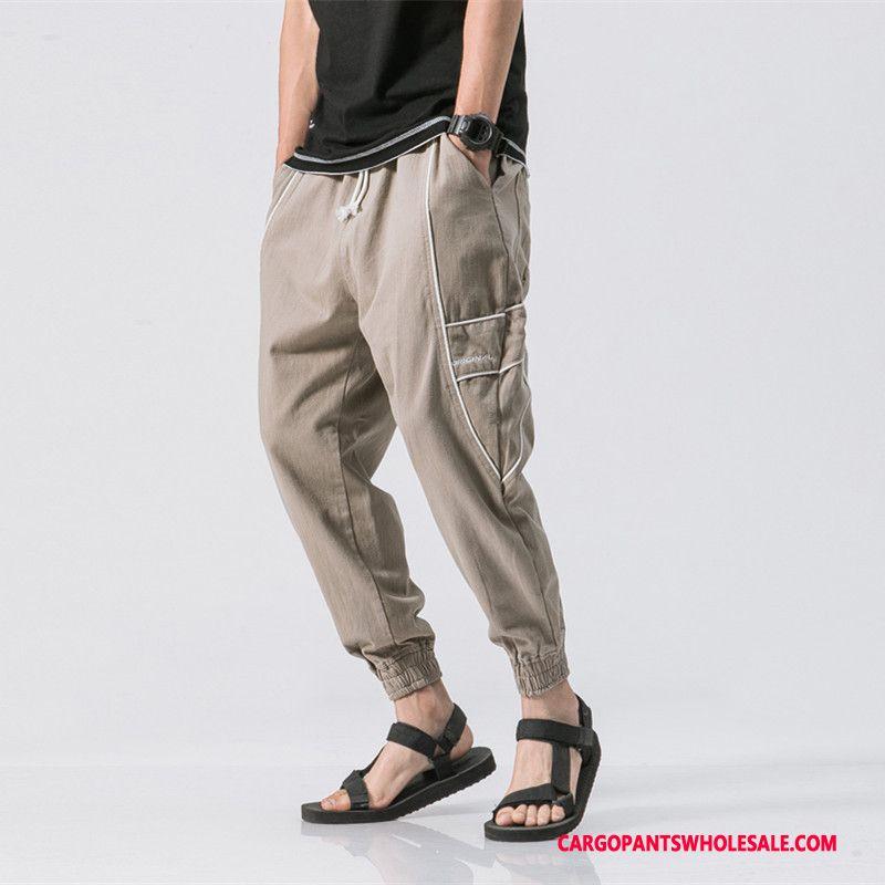 Pantalones Cargo Hombre Caqui Pantalones Sueltos Apretados Todo Coincide Cargo Venta