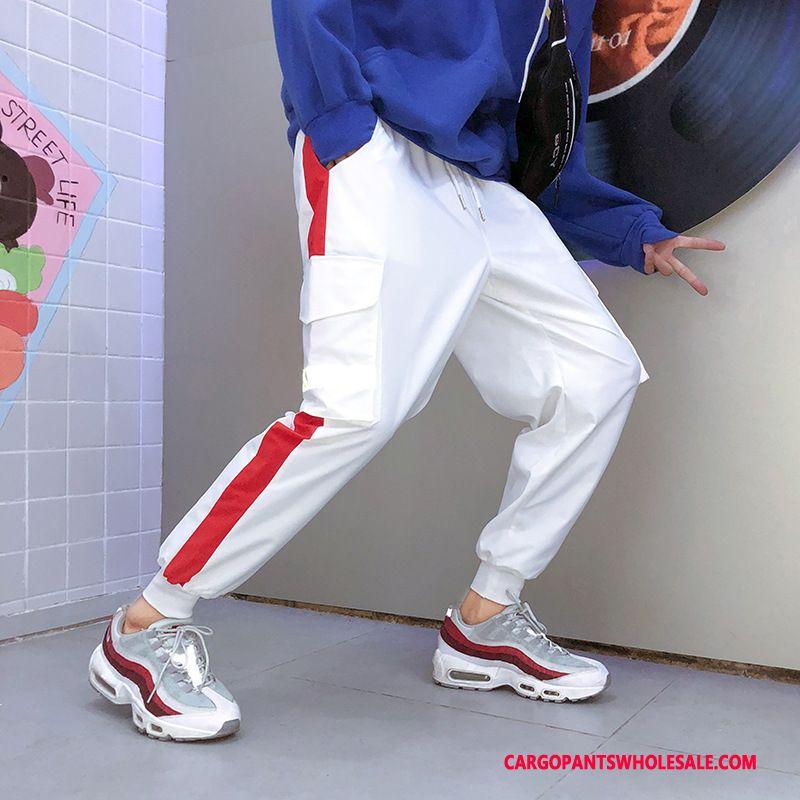 Cargo Pants Men White Casual Pants Trend Hip Hop Loose Tide