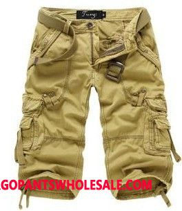 Cargo Shorts Male Khaki Capri Pants The New Cargo Pants Loose Leisure