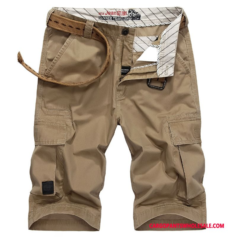 Cargo Shorts Male Khaki Shorts Cotton Men Large Size Leisure Outdoor