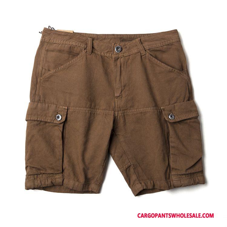Cargo Shorts Male Pants Medium Leisure Nostalgic Crop