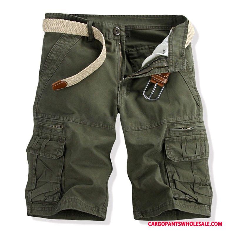 Cargo Shorts Men Army Green Multi-pocket Motion Outdoor Pants Cargo