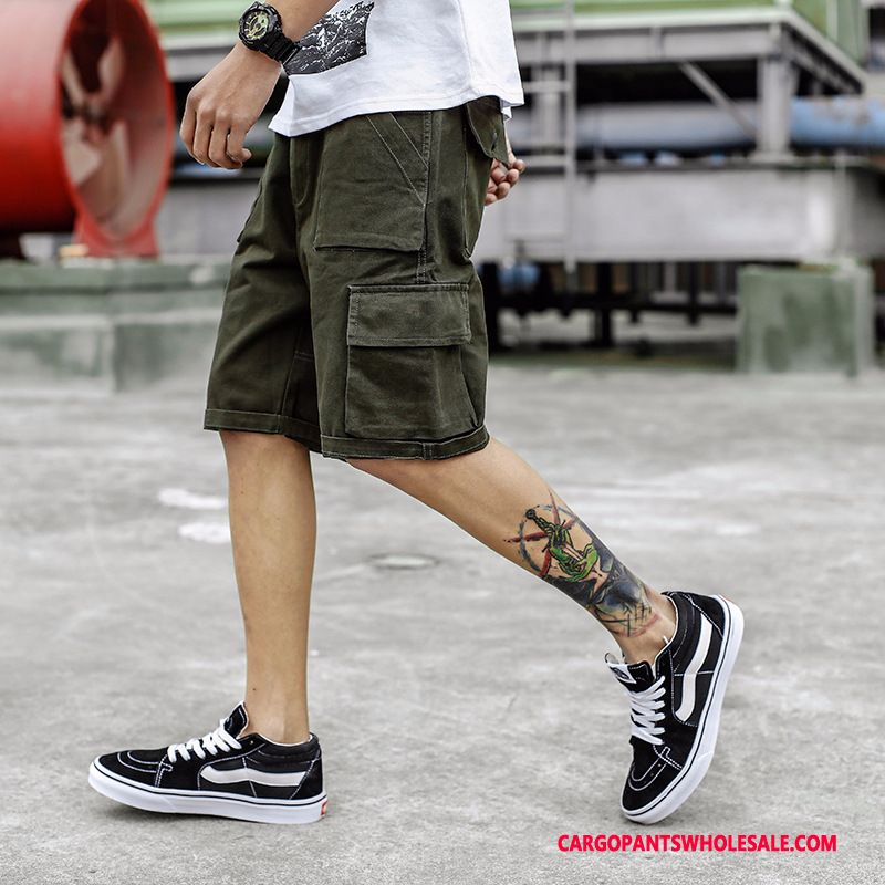 Cargo Shorts Men Camouflage Army Green Green Cargo Shorts Summer Juvenile Multiple Pockets