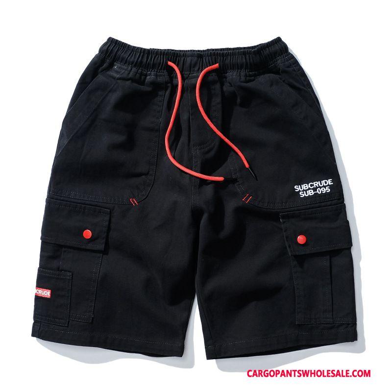 Cargo Shorts Men Camouflage Black The New Shorts Cargo Pants Multi-pocket Trend