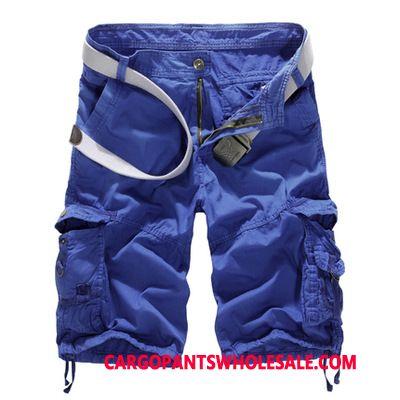 Pantaloncini Cargo Uomo Camuffamento Blu Cargo Short Pantaloncini Grandi Taglie Media