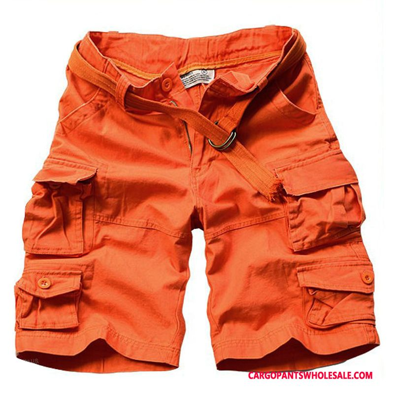 Cargo Shorts Men Camouflage Red Shorts Large Size High Leisure Multi-pocket