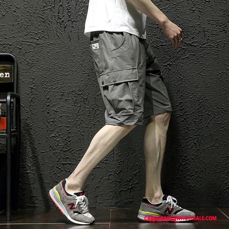 Cargo Shorts Men Gray Loose Summer Cargo Large Size Shorts