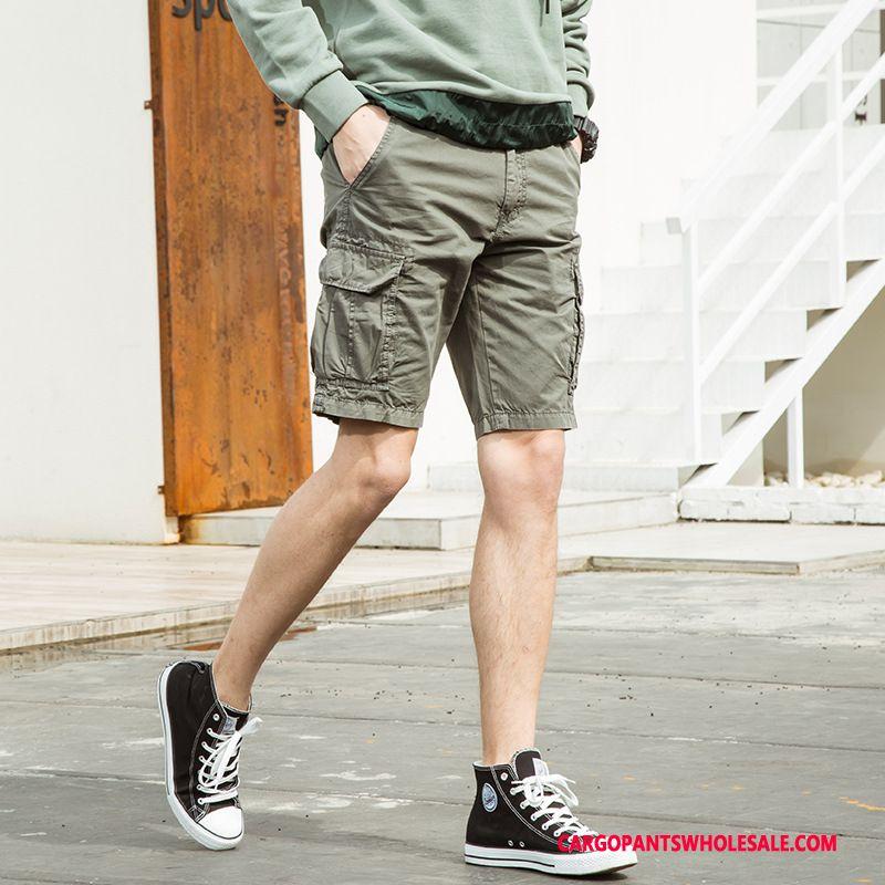 Cargo Shorts Men Gray Shorts Cargo Pants Casual Pants Europe Summer