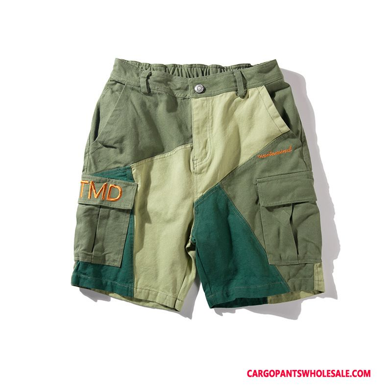 Cargo Shorts Men Green Casual Pants Tide Brand Summer Cargo Shorts