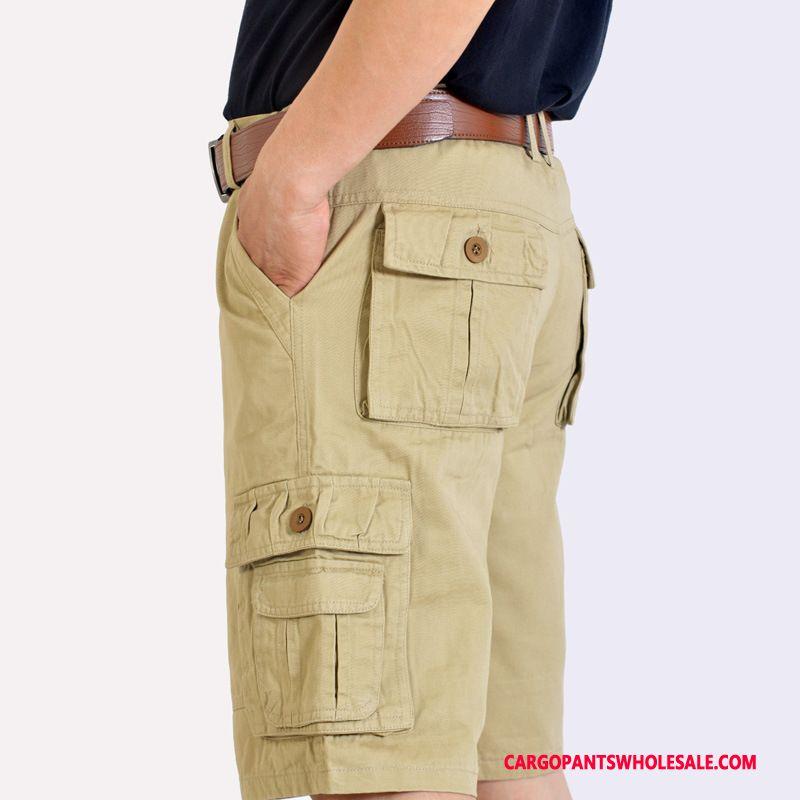 Cargo Shorts Men Khaki Loose Cargo Medium Large Size Shorts