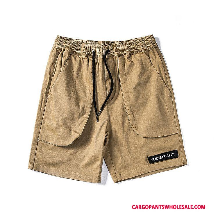 Cargo Shorts Men Khaki Retro Street Tide Cargo Shorts