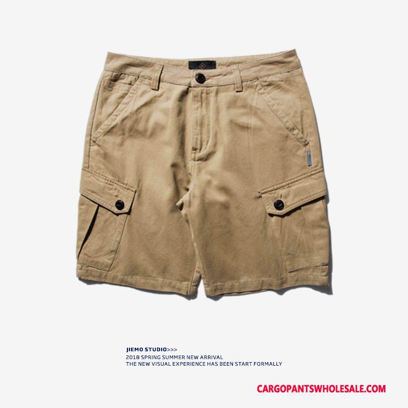 Szorty Cargo Męskie Khaki Spodnie Cargo Lato Tendencja Gorąca Sprzedaż Casual Spodnie