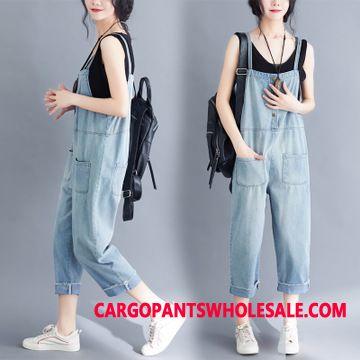 Bib Pants Women Jeans Pocket College The New Summer
