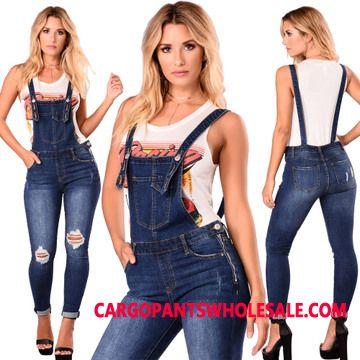 Bib Pants Women The New Europe Crimping Strap Jeans