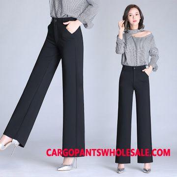 Dress Pants Female Plus Size High Waist Women Casual Pants Large Size Trousers