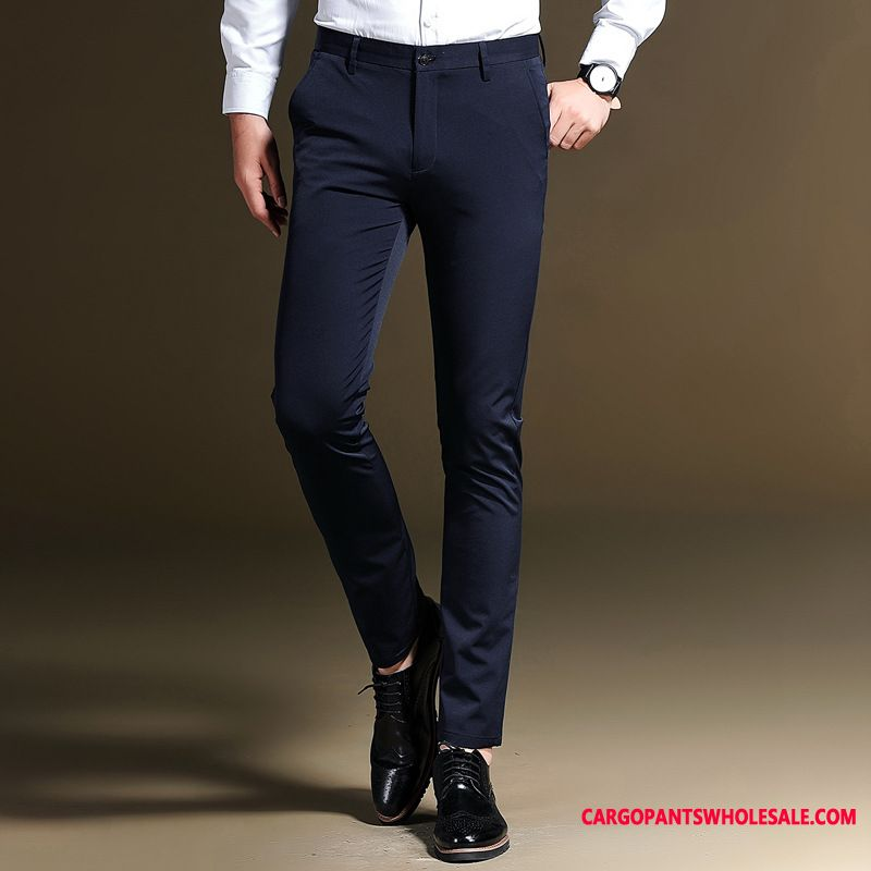 Dress Pants Male Business Thin Section Men Casual Pants Slim Fit Summer