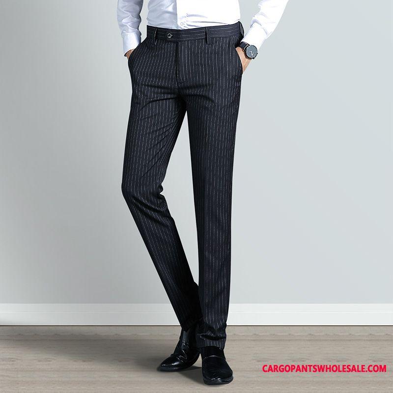 Dress Pants Male Pants Stripe Men Men Men Trousers Slim Fit The New