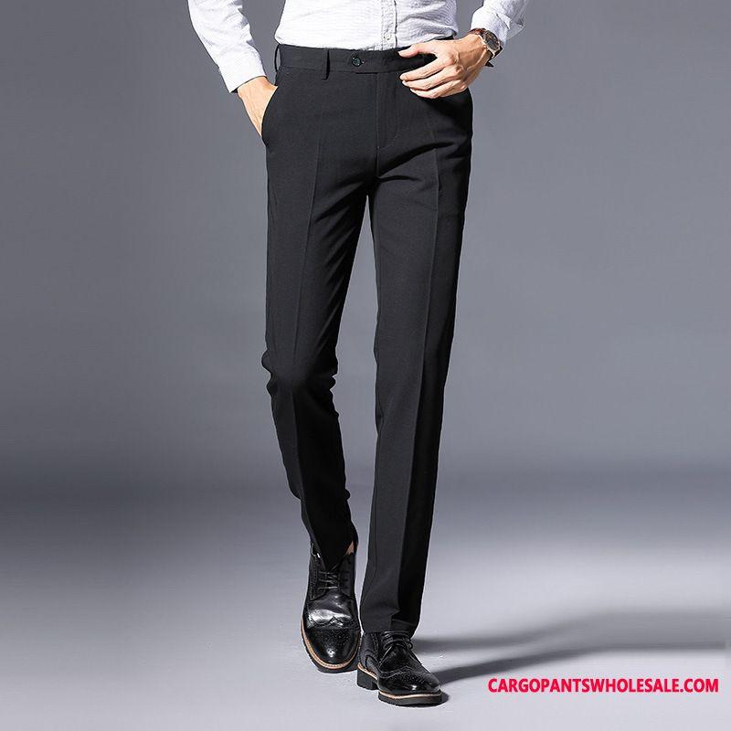 Dress Pants Male Slim Fit Suit Men Go To Work Pants Wrinkle Resistance