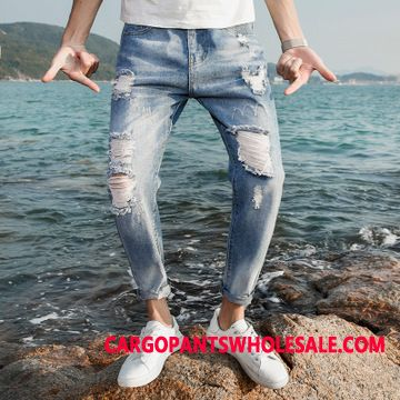Jeans Male Bird Jeans Men The New Summer Hole