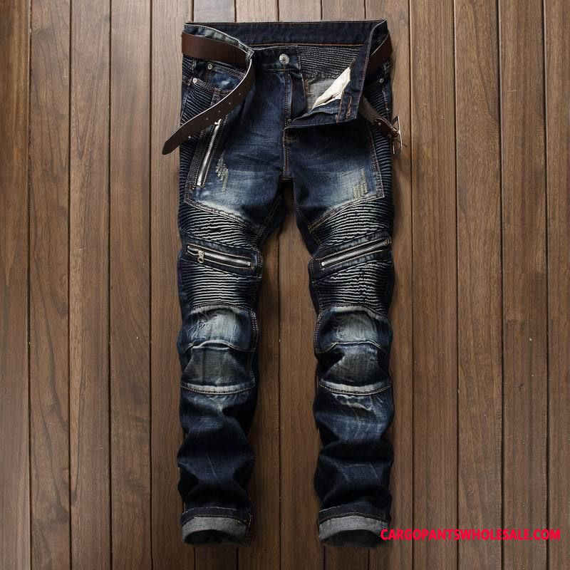 Jeans Male Europe Explosion Men The New Zipper Straight