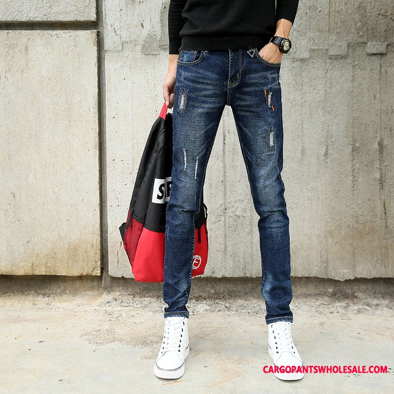 Jeans Male Green Trousers Cowboy Men Straight Fashion Jeans