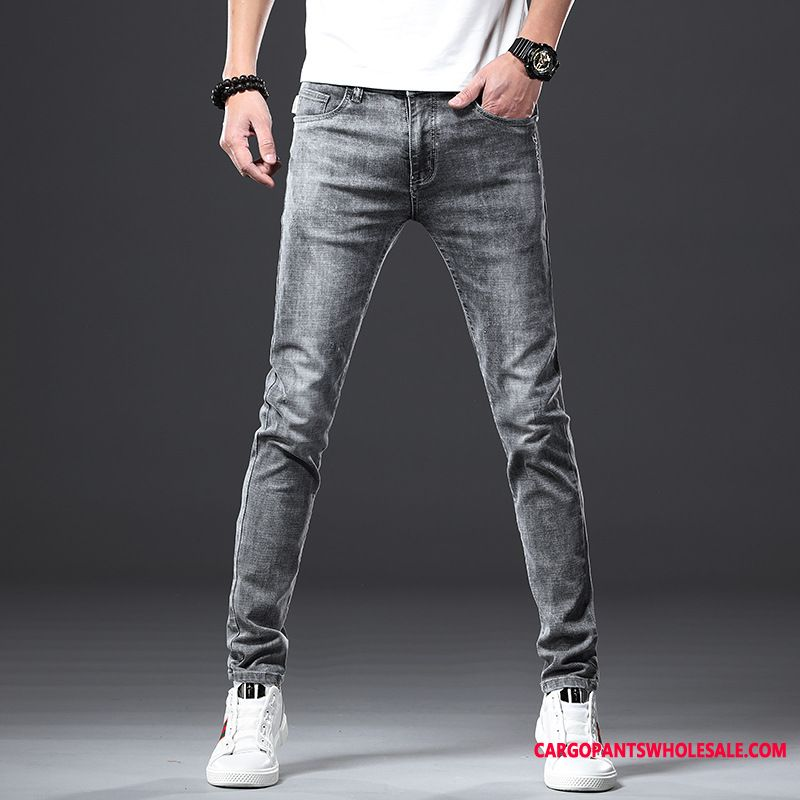 Jeans Male Jeans Trend Straight Pants Slim Fit