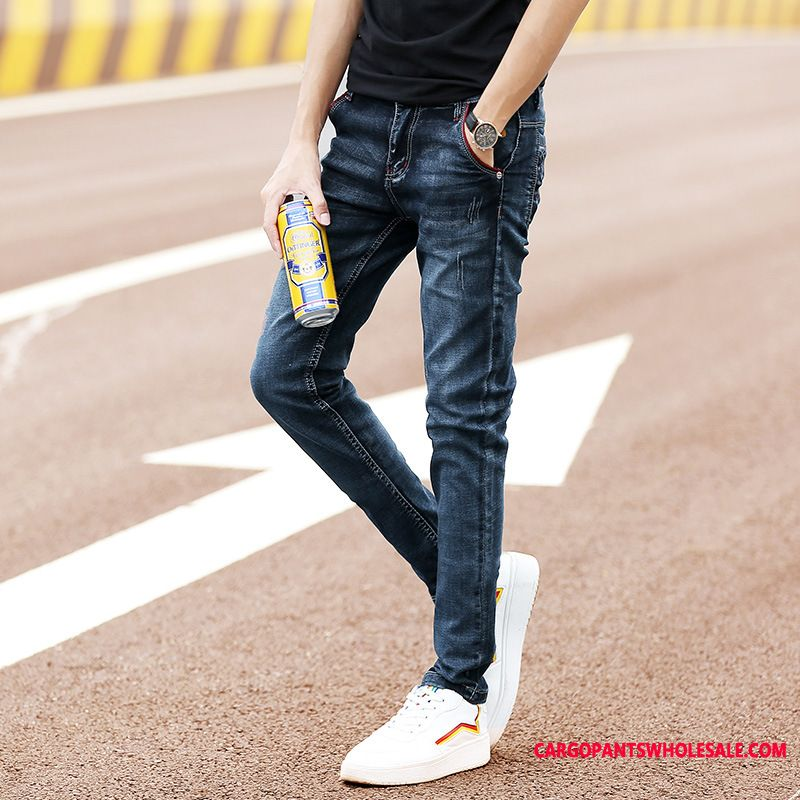 Jeans Male Leisure Jeans Men Slim Fit Small The New