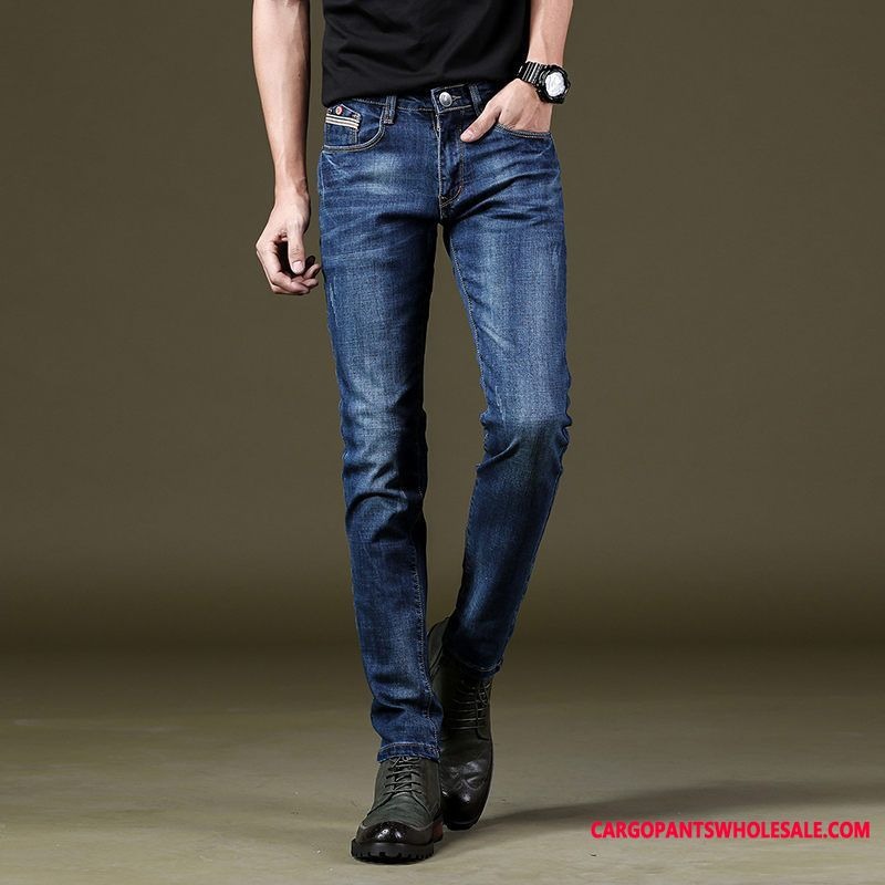 Jeans Male Pants Student Men Elastic Force Jeans Pants