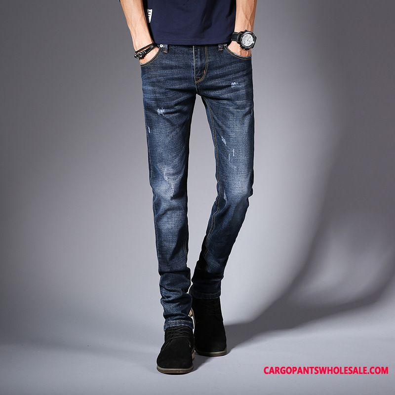 Jeans Men Green Spring Straight Autumn Casual Pants The New