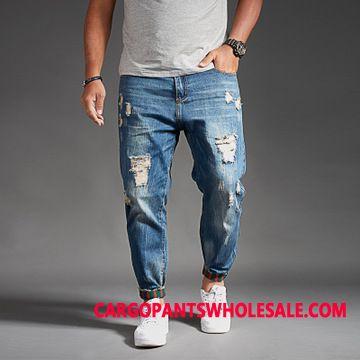 Jeans Men Harlan Hole Spring Pants Loose